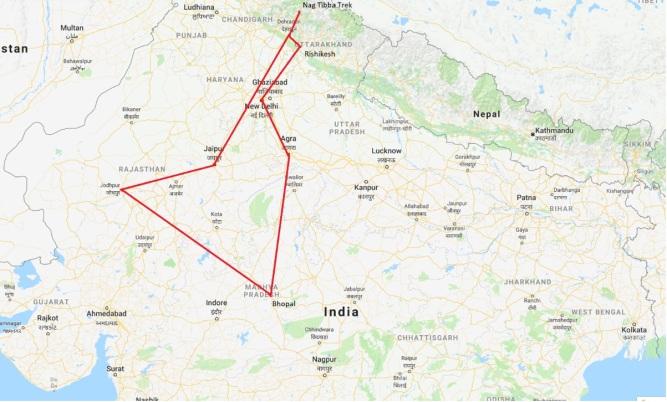 Google Maps Itinerary