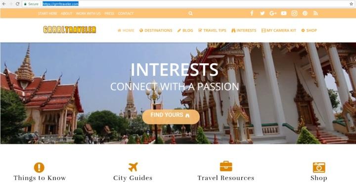 GRRRL TRAVELLER Home Page