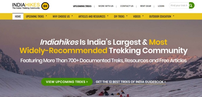 India Hikes Home Page