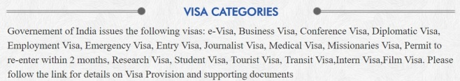 Visa Categories