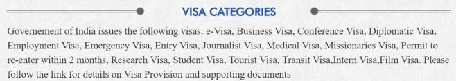 Visa Categories