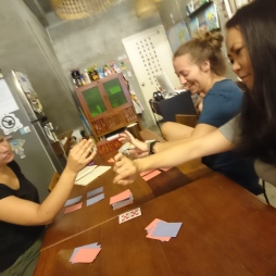 Playing card games :)